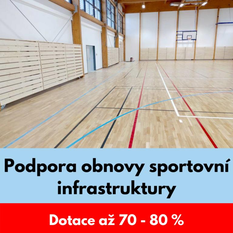 Podpora obnovy sportovní infrastruktury