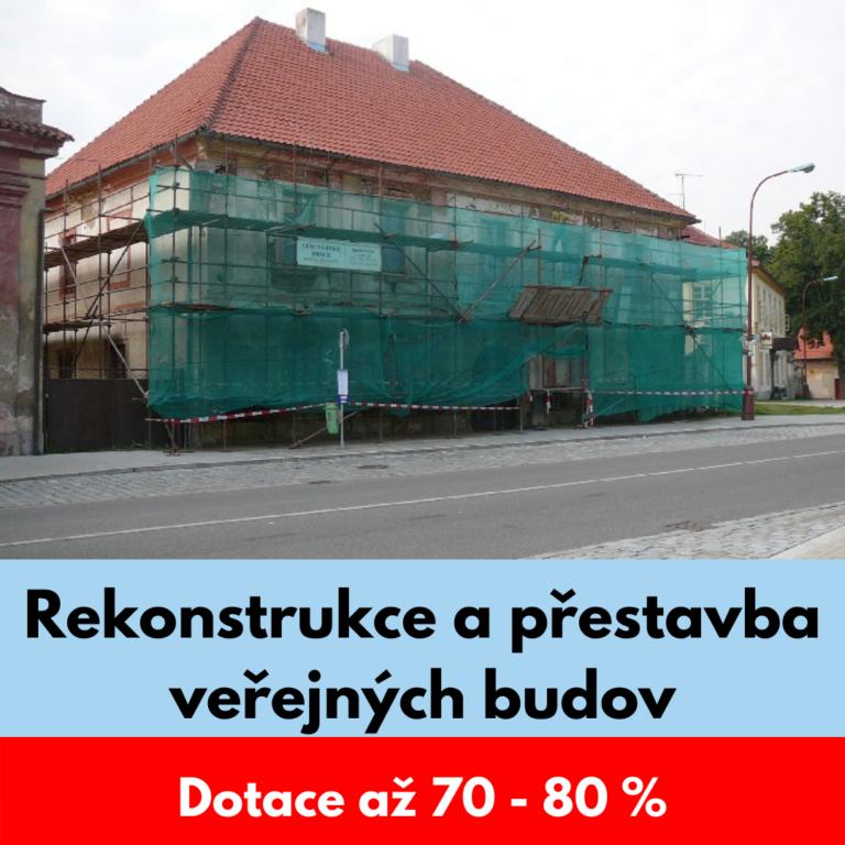 Rekonstrukce a přestavba veřejných budov